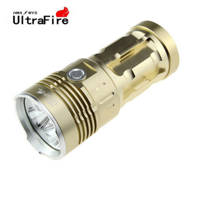 Ultrafire 3-LED 270lm 3-Mode wit zaklamp w / strap - golden