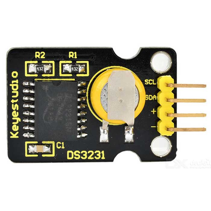 Keyestudio DS3231 Clock Module for Arduino - Black + Yellow