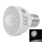 E27 3W Motion Sensor LED Bulb Cool White 23000K 170lm - White (AC 85~260V)