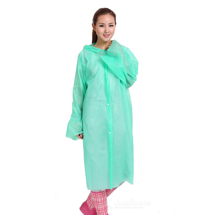 Portable Disposable Raincoat for Outdoor Sports & Travel - Green