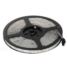 24W RGB LED Light Strip 1200lm w/ 24-Key Remote - White + Black (5M)