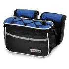 Yanho 4-in-1 Multifunctional Bike Bicycle Tube Saddle Bag / Messenger Bag - Black + Blue