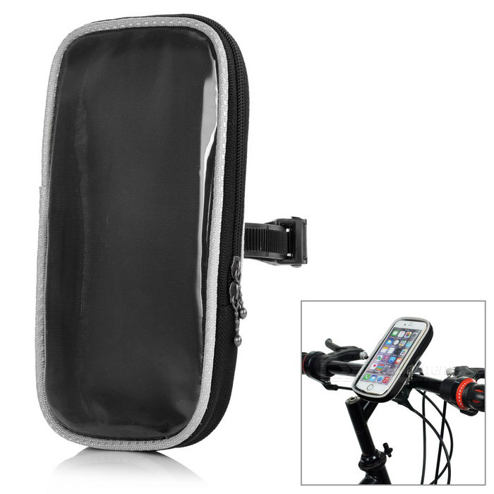 Yanho Bike Handlebar Mounted Case Bag for 4.8~5.7 Phones - Black (L)Bike Accessories<br>Form ColorBlackBrandROSWHEELQuantity1 DX.PCM.Model.AttributeModel.UnitMaterial840D polyester + PVCTypeOthers,Touch screenGenderUnisexWaterproofNoBest UseCyclingPacking List1 x Phone bag<br>