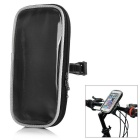"Yanho Bike Handlebar Mounted Touch Screen Pouch Case Bag for 4.8~5.7"" Phones - Black (L)"