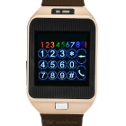 "Rwatch R5 Smart Watch w/ 1.6"" Screen, Bluetooth 4.0 for Android 3.0 and iOS - Brown + Champagne Gold"