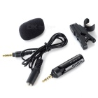 3.5mm Stereo Microphone for Tablet PC / Cellphone - Black