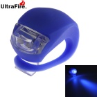 UltraFire 2-LED 20lm 3-Mode Blue Light Bike Tail Safety Warning Lamp - Blue (2 x CR2032)