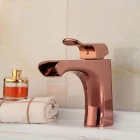 Fashionable European Style Waterfall Bathroom Sink Faucet - Rose Gold