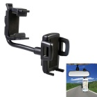 Universal Car Rearview Mirror Mount Holder for IPHONE / Mobile Phone / GPS - Black
