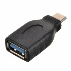 USB 3.1 Type-C Male to USB 3.0 Female Connector Adapter - Black