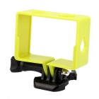 PANNOVO GP75 Professional Camera Protective Border Frame Case w/ Mount for Xiaomi Xiaoyi - Yellow