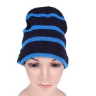2.4GHz Wireless Bluetooth V3.0 Winter Warm Knitted Cap Hat w/ Mic. - Black + Blue