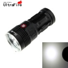 UltraFire 3-LED 270lm 3-Mode White Flashlight w/ Strap - Black (4 x 18650)