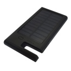 8000mAh Shockproof Waterproof Solar Power Bank w/ Stand - Black