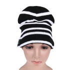Wireless Bluetooth V3.0 Smart-Warm Knitted Hat w / Hand-Free Calls - Black + White