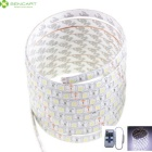 72W Waterproof Flexible LED Light Strips White 300-5050 SMD + 11-Key RF Controller (5m / DC12V)