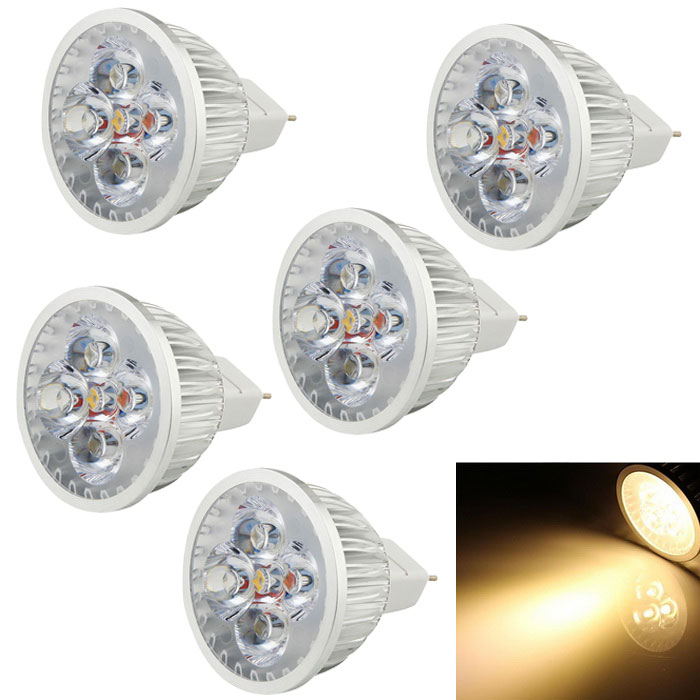 Youoklight GX5.3 4W MR16 foco spot caliente del punto blanco de 4-LED (6PCS)