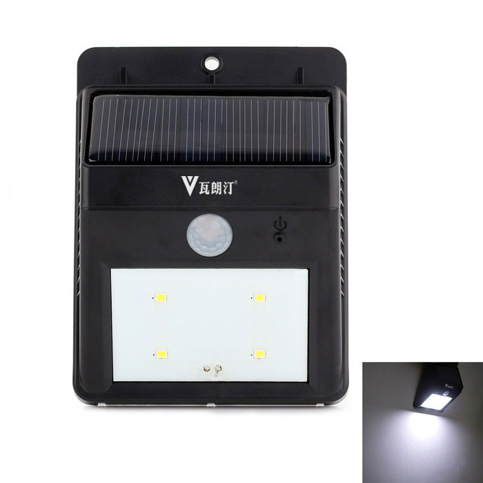 WaLangTing Waterproof 0.44W Wireless Solar Powered Motion Sensor LED Lamp White Light 120lm