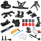 RUITAI 35-in-1 Outdoor Sports Accessories Kit for GoPro Hero 1 / 2 / 3 / 3+ / 4 - Black + Multicolor