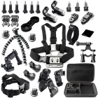 30-in-1 Accessories Kit for GoPro Hero 4 / Hero HD 3+ / 3 / 2 / 1 - Black