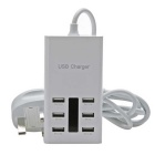 6-Port USB adaptador de carregador de energia para telefone, tablet PC - branco (uk)