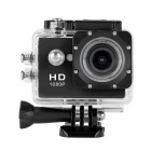 603D 1080P Full HD Water-resistant Action Sports Helmet Camera Cam DV Mini Camera - Black