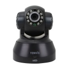 TENVIS JPT3815W-HD H.264 Wireless 1.0MP P2P Pan/Tilt Smart IP Camera w/ 10-IR-LED - Black (US Plug)