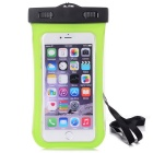 Waterproof PVC + ABS Case w/ Visual Window + Armband for IPHONE 6 PLUS - Green
