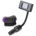 Bluetooth Handsfree + FM Transmitter + MP3 Player with Steering Wheel Mount Remote (SD/USB/2.5mm)