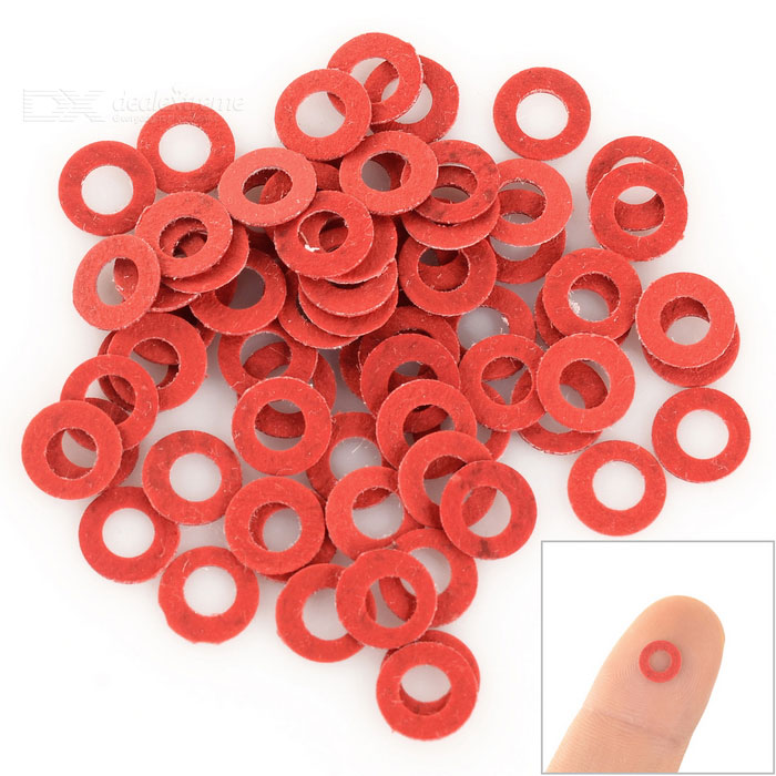 M3 Asbestos Washers / Gaskets for 3mm Screws / Pillars - Red (100 PCS)