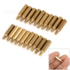 15+6mm M3 Hex Brass Standoff Screw Pillars for PCB - Golden (20 PCS)