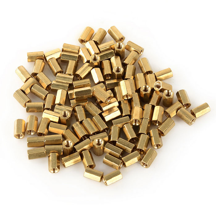 M3 8mm Hollow Brass Pillars (100 PCS)