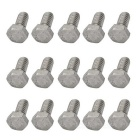 Stainless Steel British System External Hex Screws Set - Silver (1/4-20 x 1/2 Thread)
