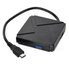 Mini Smile USB 3.1 Type-C to 4-Port USB 3.0 High Speed HUB - Black