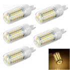 G9 9W 600lm 3200K 56-SMD 5730 LED Warm White Light Bulb (5 PCS / AC 220~240V)