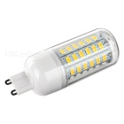 G9 9W 600lm 3200K 56-SMD 5730 LED Warm White Light Bulb (5PCS)