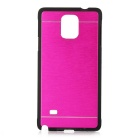 Kinston Second Generation Luxury Brushed Aluminum Back Case for Samsung Galaxy Note 4 - Deep Pink