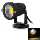Waterproof 3W COB LED Lawn Lamp Spotlight Warm White 3500K 160lm - Black + Silver (DC/AC 12V)