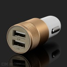 Bullet Style Dual USB Car Charger for IPHONE + More - Champagne+White