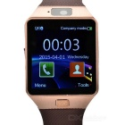 GSM Smart Wrist Watch w/ SIM Slot,Bluetooth,Quad-band - Bronze + Brone