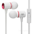 Sound Intone I66 Mega Bass In-Ear Headset w/ Mic - White + Red