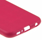 ENKAY Grid Pattern Back Case for Samsung Galaxy S6 G9200 - Deep Pink