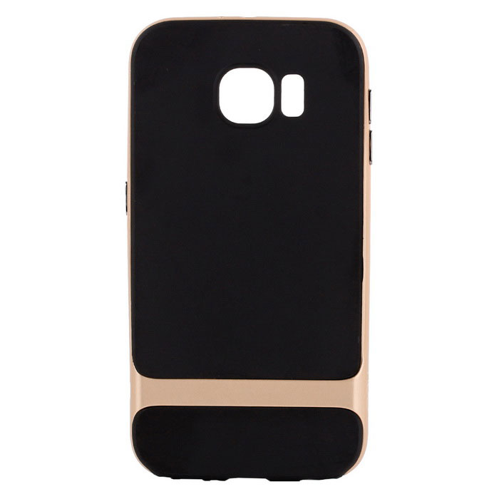 ROCK Royce Series Protective PC + TPU Back Case for Samsung Galaxy S6 - Gold + Black