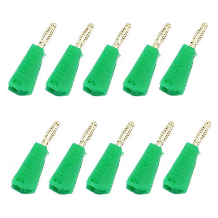 4mm Nickel-plated Speaker Banana Plug Solder Connectors (10PCS)