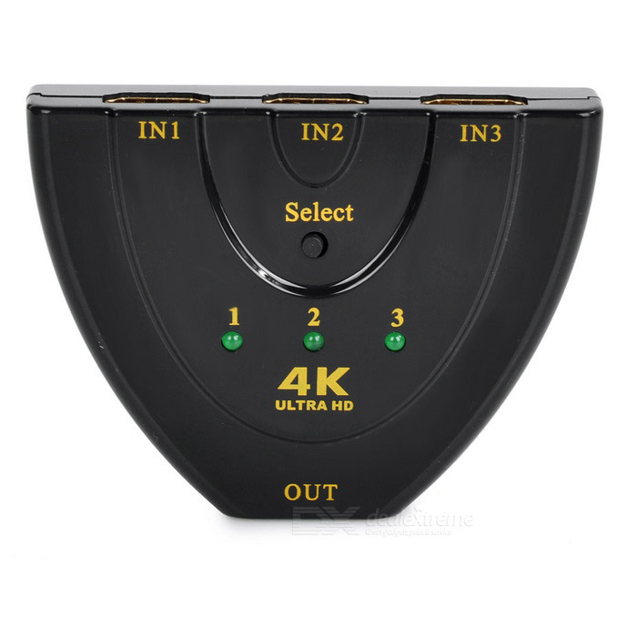 4K HDMI 1.4b 3-in 1-out switcher