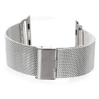 Mini Smile Stainless Steel Watch Band for 42mm APPLE WATCH - Silver