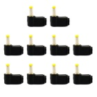 Jtron DC Plug 4.8x1.7 DC Power Supply Plug Bend Welding Line Plug - Black + Yellow (10 PCS)