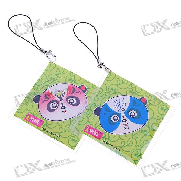 Naughty Cell Phone Charm Strap with 1 Hidden Condom - Panda Mask (Style Assorted) charming cell phone straps with activity led 10 pack assorted