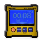 "DXL360 2.3"" LCD Portable Dual-Axis Digital Protractor - Black + Yellow"