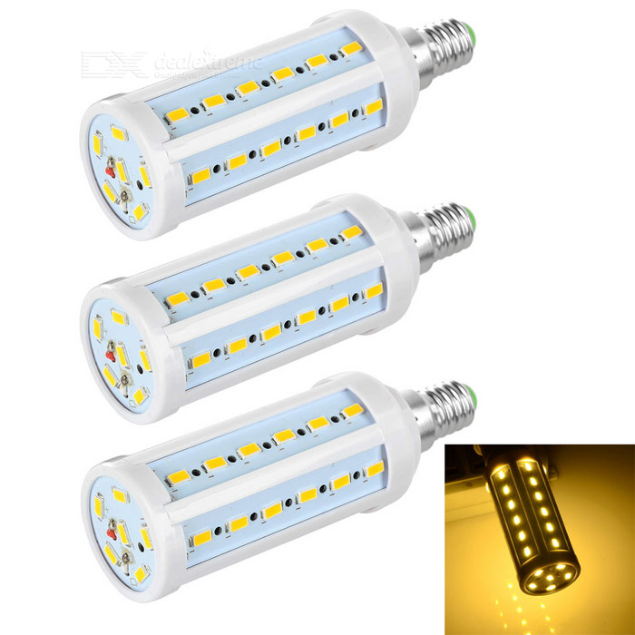 E14 9W LED Corn Lamp Warm White 600lm SMD - White + Orange (3PCS)